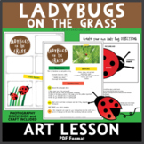 Ladybugs on the Grass Art Lesson