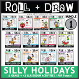 Roll and Draw Game - Annual Silly Holiday Bundle 1