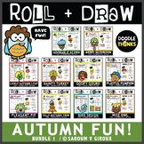 Roll and Draw Game - Autumn Fun Bundle 1