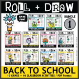 Roll and Draw Game - Back to School Fun Drawing Activities