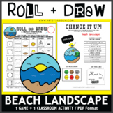 Roll and Draw Game - Beach Landscape (Summer Fun!)