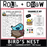 Roll and Draw Game - Bird's Nest (Spring Fun!)