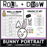 Roll and Draw Game - Bunny Portrait (Spring Fun!)