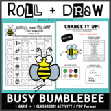 Roll and Draw Game - Busy Bumblebee (Spring Fun!)