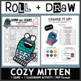 Roll and Draw Game - Cozy Mitten (Winter Fun!)