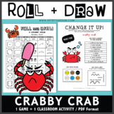 Roll and Draw Game - Crabby Crab (Summer Fun!)