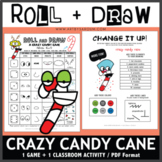 Roll and Draw Game - Crazy Candy Cane (Winter Fun!)