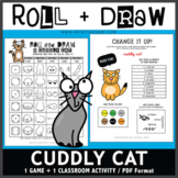 Roll and Draw Game - Cuddly Cat (Hug Your Cat Day on June 4)
