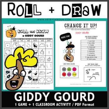 Roll and Draw Game - Giddy Gourd