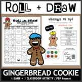 Roll and Draw Game - Gingerbread Cookie (Winter Fun!)