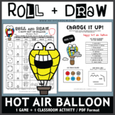 Roll and Draw Game - Happy Hot Air Balloon (Summer Fun!)