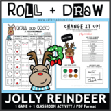 Roll and Draw Game - Jolly Reindeer (Winter Fun!)