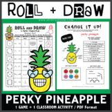 Roll and Draw Game - Perky Pineapple (Summer Fun!)