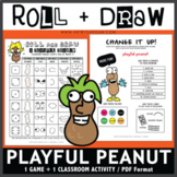 Roll and Draw Game - Playful Peanut (Peanut Lover's Day on