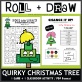 Roll and Draw Game - Quirky Christmas Tree (Winter Fun!)