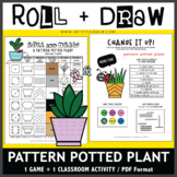 Roll and Draw Game - Pattern Potted Plant (Spring Fun!)
