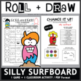 Roll and Draw Game - Silly Surfboard (Summer Fun!)