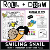 Roll and Draw Game - Smiling Snail (Spring Fun!)