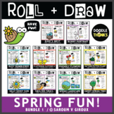 Roll and Draw Game - Spring Fun Bundle 1 Drawing Activities