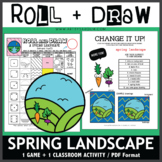 Roll and Draw Game - Spring Landscape (Spring Fun!)