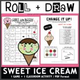 Roll and Draw Game - Sweet Ice Cream (Summer Fun!)