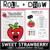 Roll and Draw Game - Sweet Strawberry (Strawberry Day on F