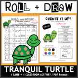 Roll and Draw Game - Tranquil Turtle (Summer Fun!)