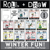 Roll and Draw Game - Winter Fun Bundle 1