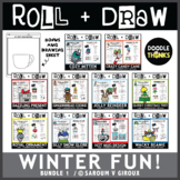 Roll and Draw Game - Winter Fun Bundle 1