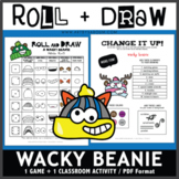 Roll and Draw Game - Wacky Beanie (Winter Fun!)