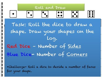 Roll and Draw Shapes