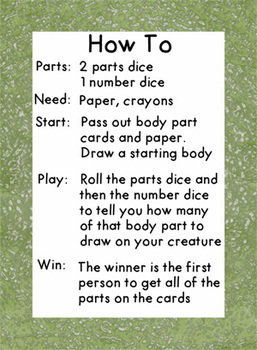 Roll and Draw a Creature