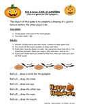 Roll and Draw a Jack-o-Lantern - fun dice game