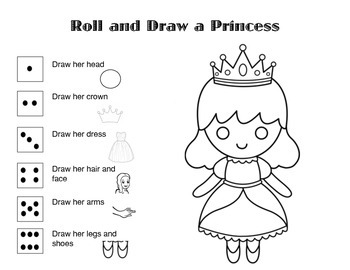 Roll and Draw a Princess