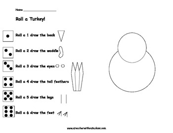 Roll and Draw a Turkey!