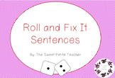 Literacy Printable: Roll and Fix It Sentences
