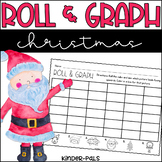 Roll and Graph Christmas Themed Math Center for Kindergarten