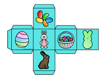 Roll and Graph Easter Themed Math Center for Kindergarten