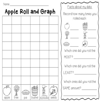 Roll and Graph September: Apples and Community Helpers
