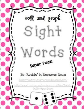 Roll and Graph - Sight Words Super Pack!