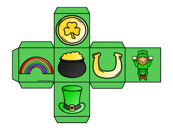 Roll and Graph St. Patrick's Day Themed Math Center for Kindergarten
