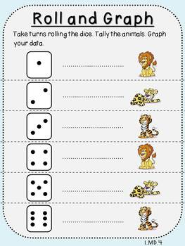 Roll and Graph-Student Mats (First Grade, 1.MD.4)