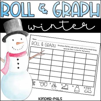 Roll and Graph Winter Themed Math Center for Kindergarten