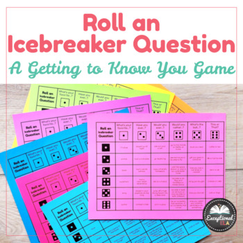 Roll an Icebreaker Question: A Getting to Know You Game with Dice!