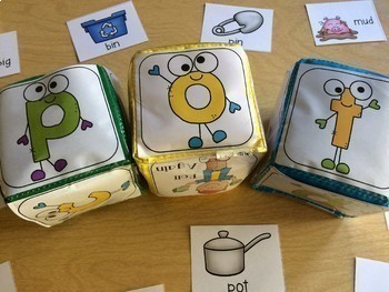 Roll and Learn First Grade Growing Bundle with Differentiated Instruction Cubes