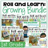 Roll and Learn First Grade Growing Bundle with Differentia