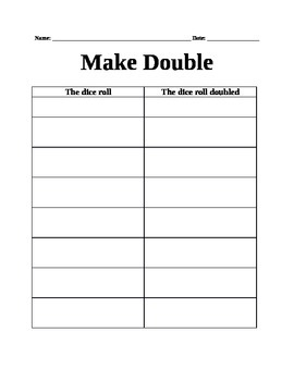 Roll and Make Double *editable*
