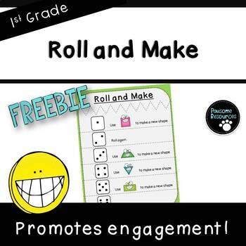 Roll and Make Mat ***FREEBIE*** (First Grade, 1.G.2)