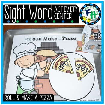Sight Word Center {Roll and Make a Pizza}