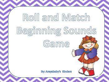 Roll and Match {beginning sounds}